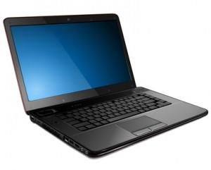 Laptop, vector illustration.